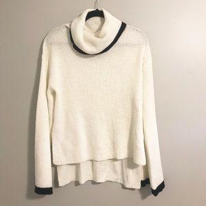 Lush Sweaters - Lush White & Black Sweater